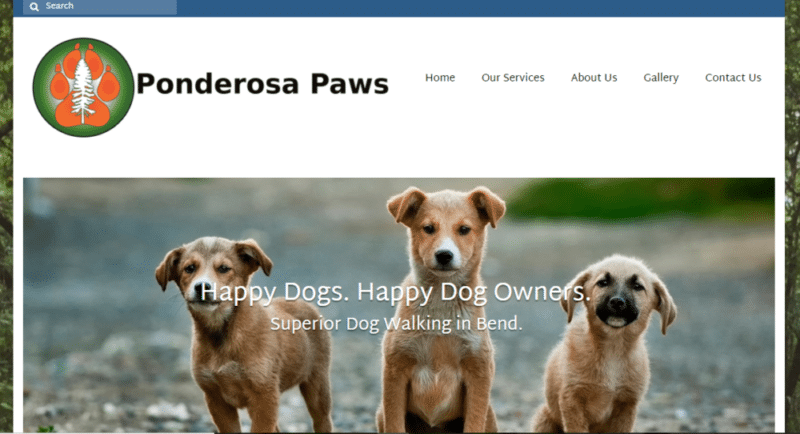 Ponderosa Paws website