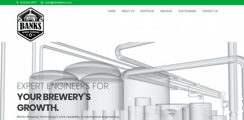 Banks Brew website