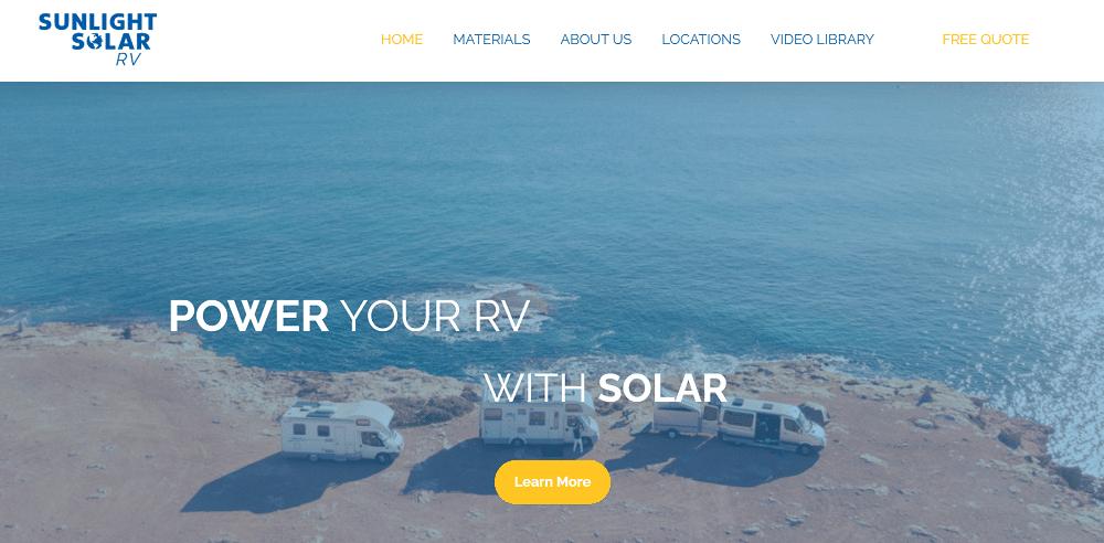 Sunlight Solar RV